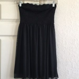 Dresses & Skirts - Mini dres,black strapless lace embodied